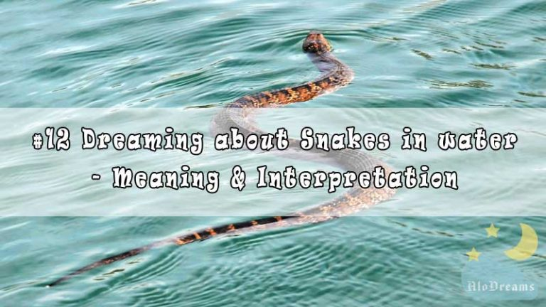 #12 Dreaming about Snakes in water - Meaning & Interpretation