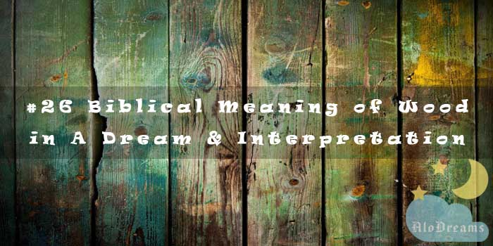 #26 Biblical Meaning of Wood in A Dream & Interpretation