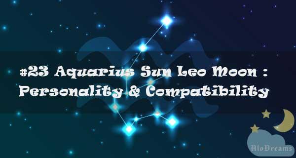 #23 Aquarius Sun Leo Moon : Personality & Compatibility