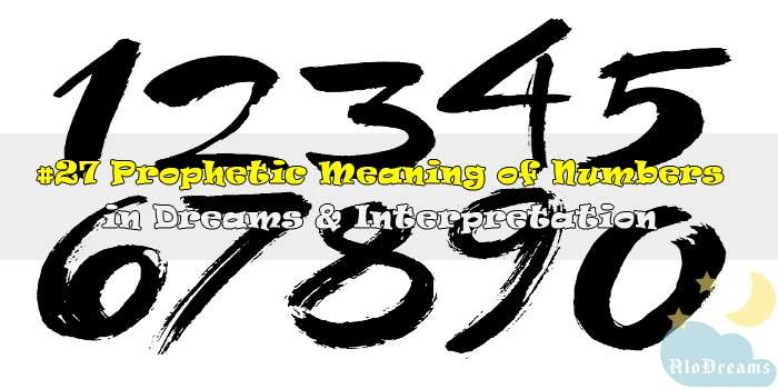 #27 Prophetic Meaning of Numbers in Dreams & Interpretation