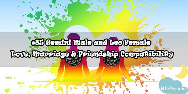 #85 Gemini Male and Leo Female - Love, Marriage & Friendship Compatibility