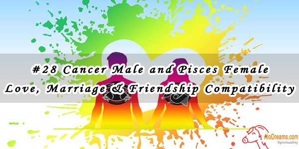 #28 Cancer Male and Pisces Female - Love, Marriage & Friendship Compatibility