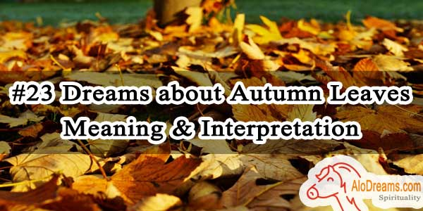 #23 Dreams about Autumn Leaves - Meaning & Interpretation