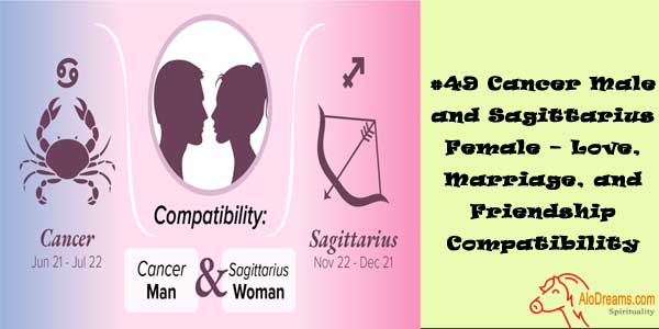 #49 Cancer Male and Sagittarius Female – Love, Marriage, and Friendship Compatibility